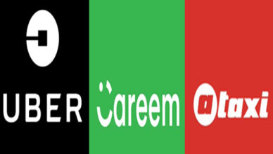 Uber vs Careem vs A-Taxi